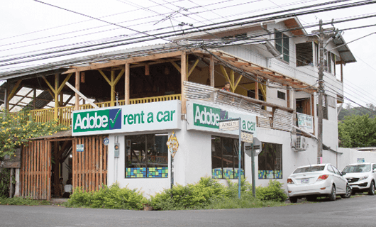 Adobe Car Rental en Puerto Viejo Costa Rica