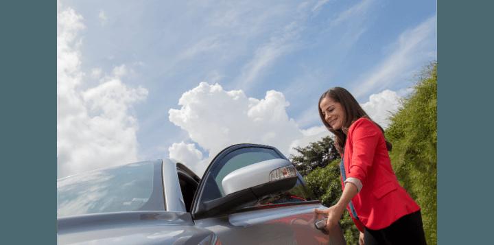Driving a car in ciudad quesada costa rica